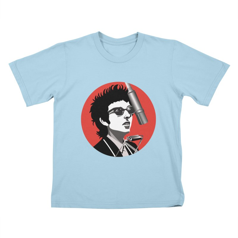Bob Dylan Kids T-Shirt by philscarr's Artist Shop