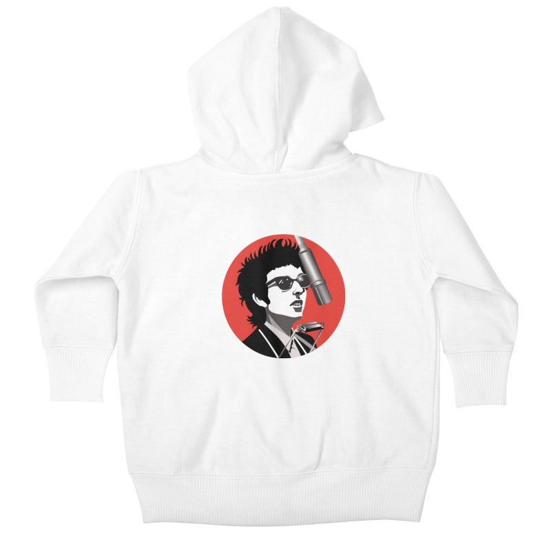 Bob Dylan Kids Baby Zip-Up Hoody by philscarr's Artist Shop