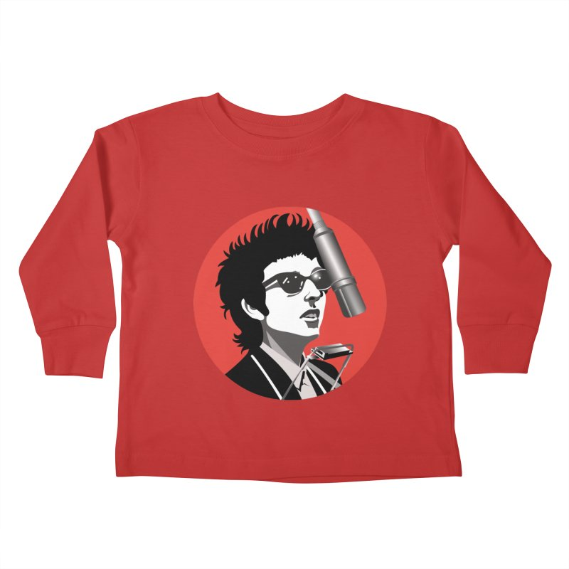Bob Dylan Kids Toddler Longsleeve T-Shirt by philscarr's Artist Shop