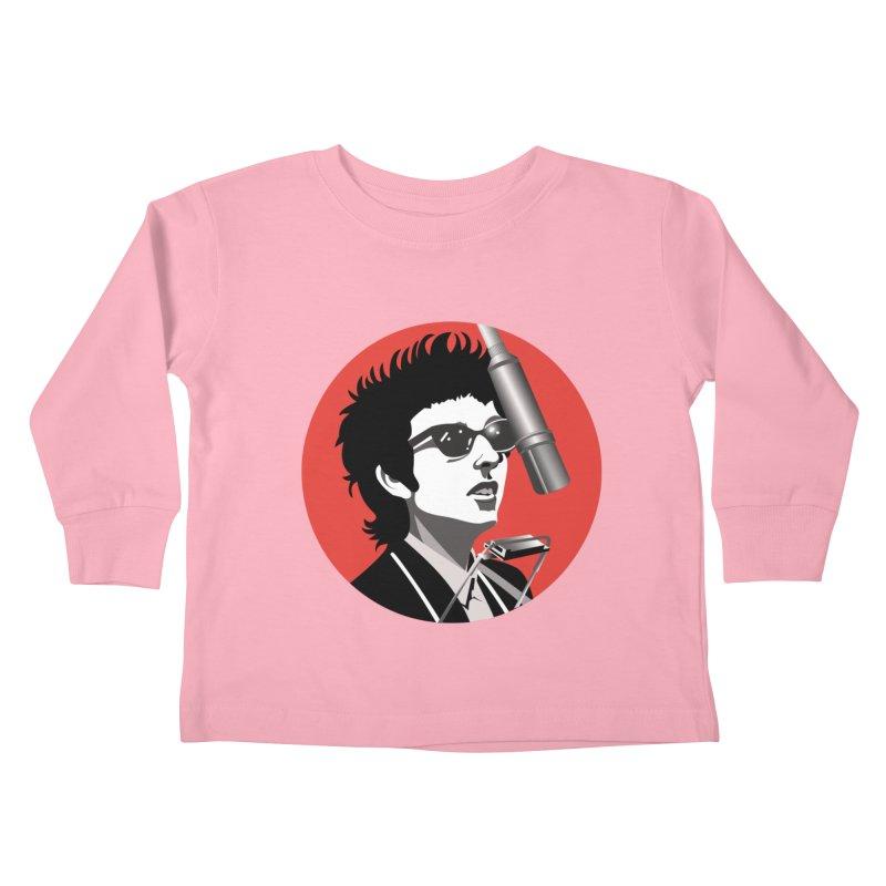 Bob Dylan Kids Toddler Longsleeve T-Shirt by philscarr's Artist Shop
