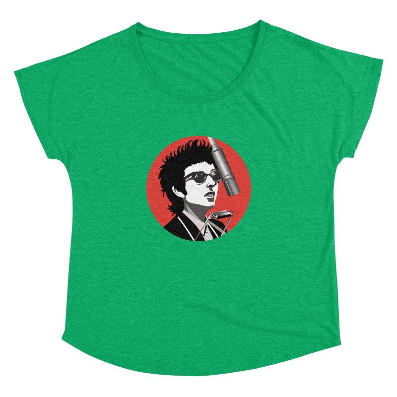 Bob Dylan Women's Dolman Scoop Neck by philscarr's Artist Shop