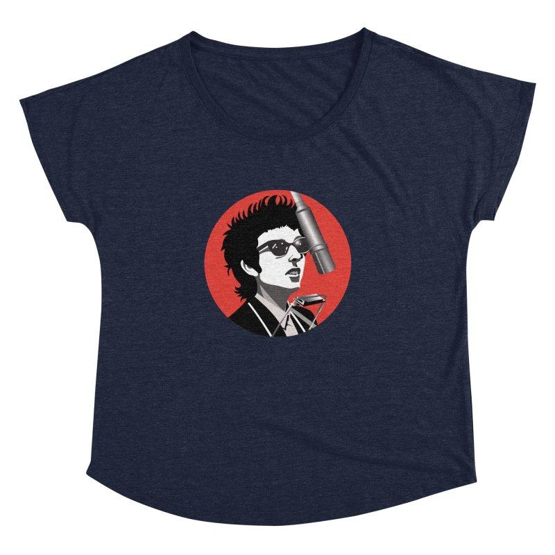Bob Dylan Women's Dolman Scoop Neck by philscarr's Artist Shop