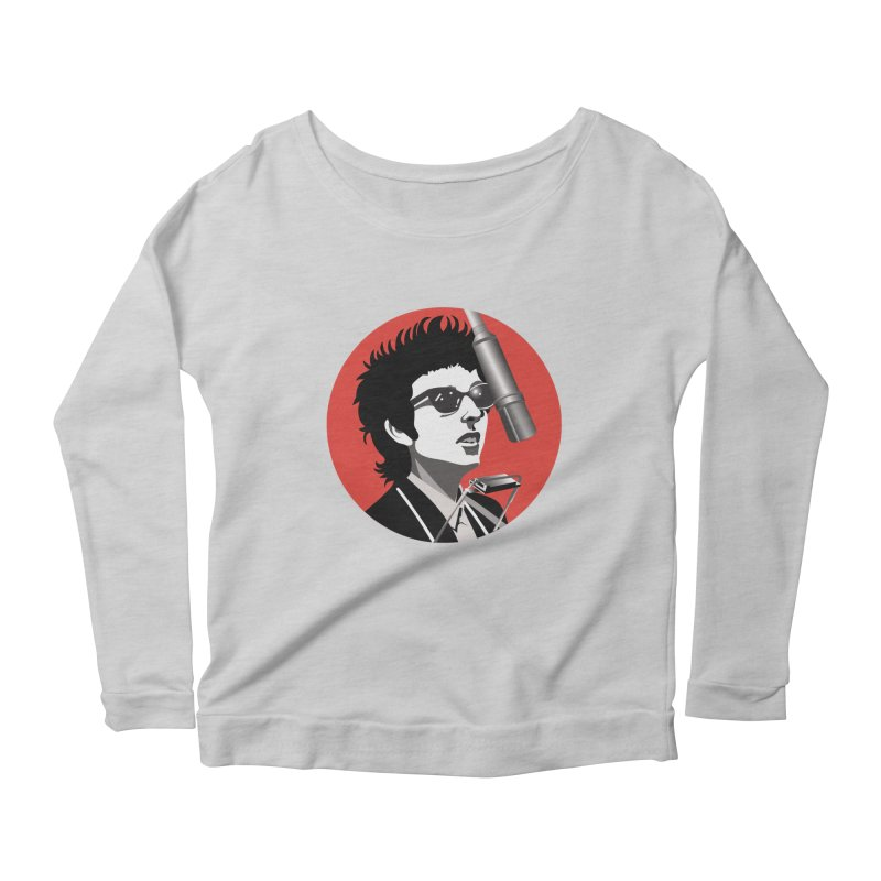 Bob Dylan Women's Scoop Neck Longsleeve T-Shirt by philscarr's Artist Shop