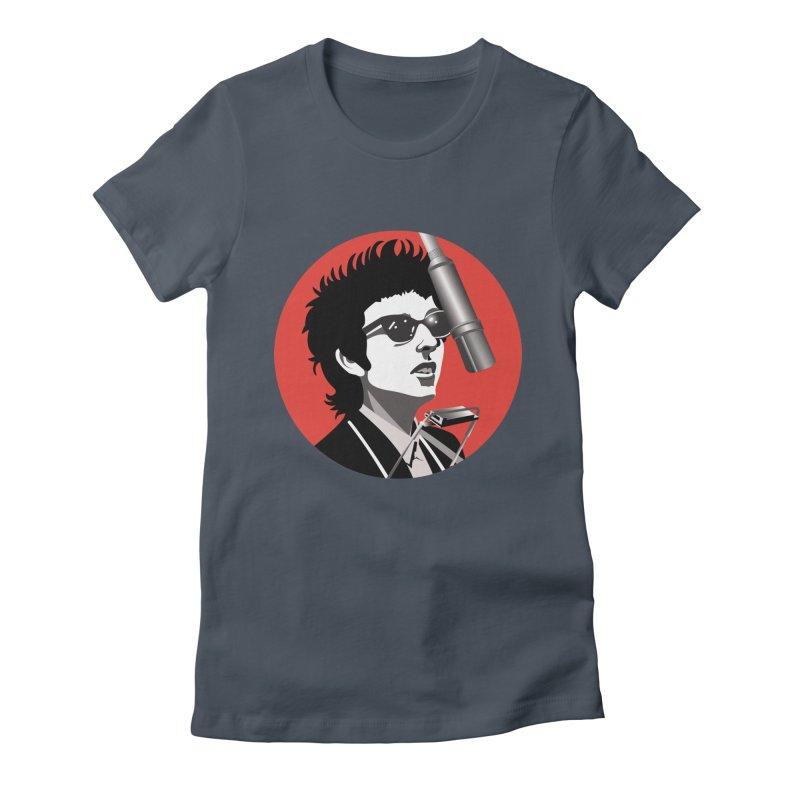 Bob Dylan Women's T-Shirt by philscarr's Artist Shop