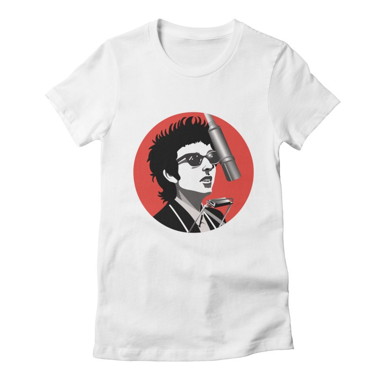 Bob Dylan Women's Fitted T-Shirt by philscarr's Artist Shop
