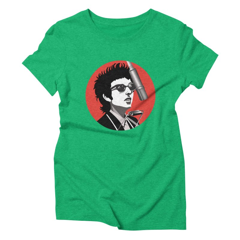 Bob Dylan Women's Triblend T-Shirt by philscarr's Artist Shop