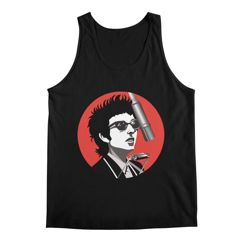 Bob Dylan Men's Regular Tank by philscarr's Artist Shop