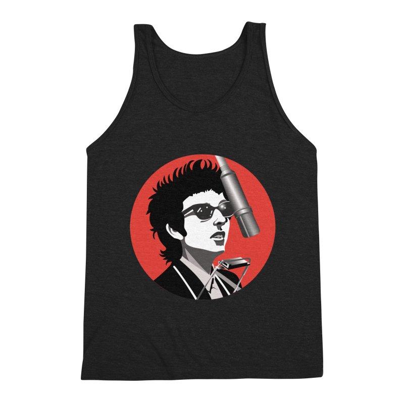Bob Dylan Men's Triblend Tank by philscarr's Artist Shop