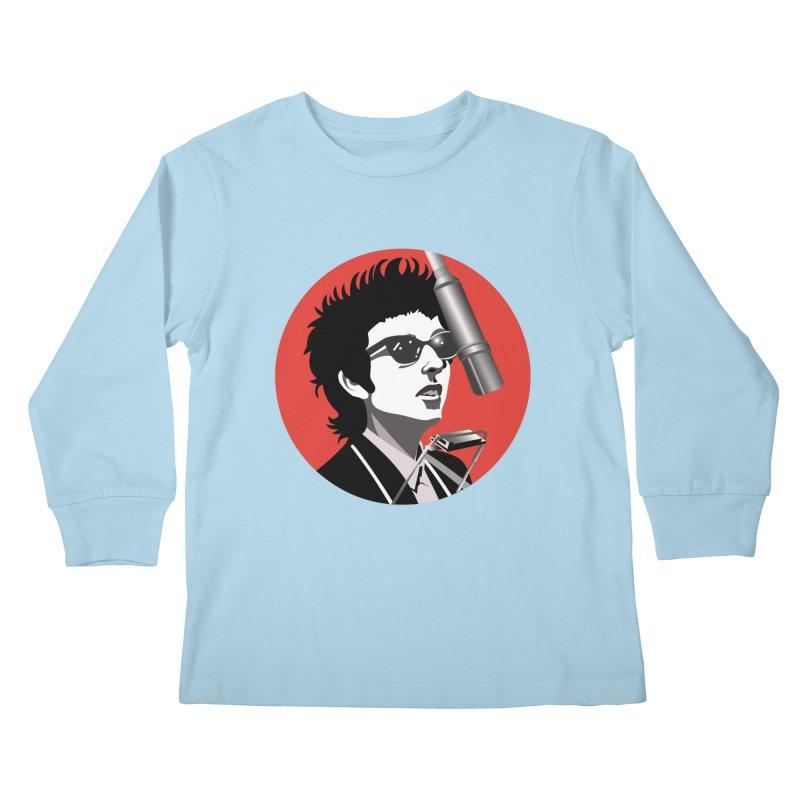 Bob Dylan Kids Longsleeve T-Shirt by philscarr's Artist Shop