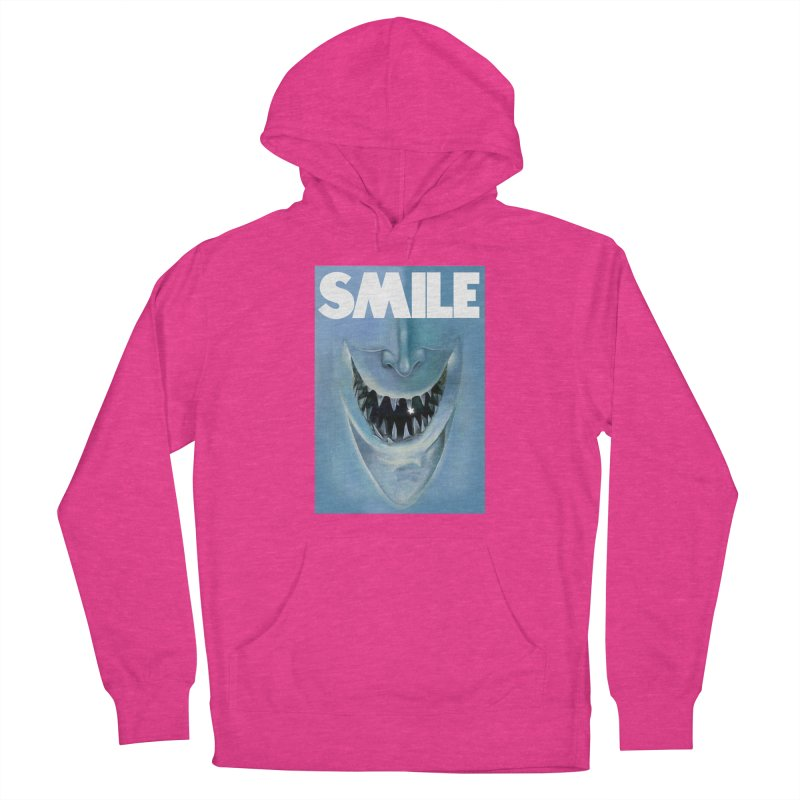 SMILE Men's French Terry Pullover Hoody by philscarr's Artist Shop