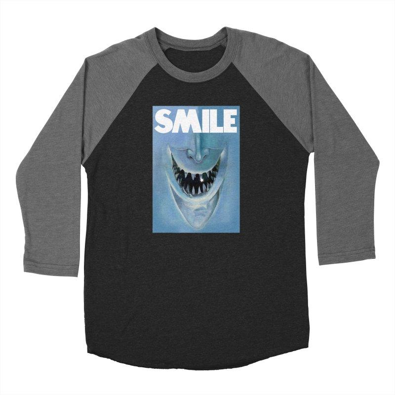 SMILE Men's Baseball Triblend Longsleeve T-Shirt by philscarr's Artist Shop