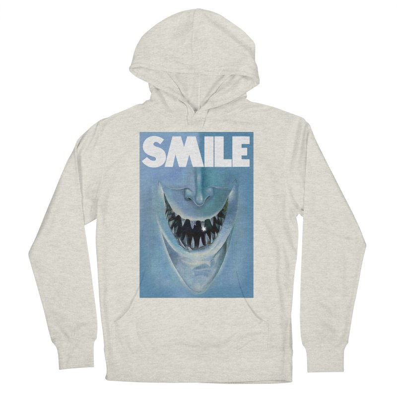 SMILE Women's French Terry Pullover Hoody by philscarr's Artist Shop