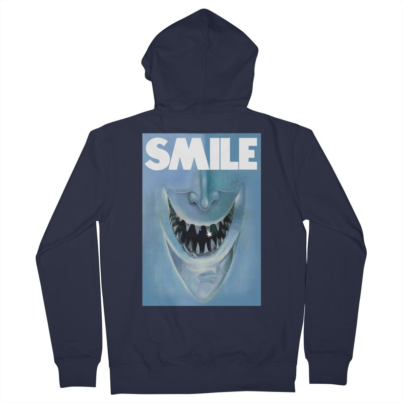 SMILE Women's French Terry Zip-Up Hoody by philscarr's Artist Shop