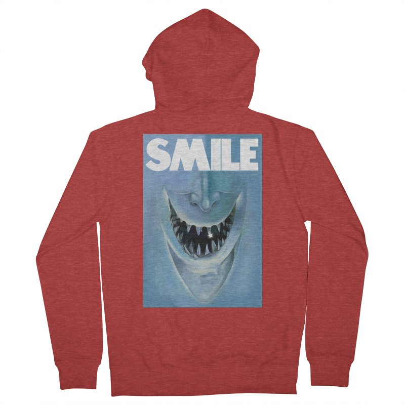 SMILE Men's French Terry Zip-Up Hoody by philscarr's Artist Shop
