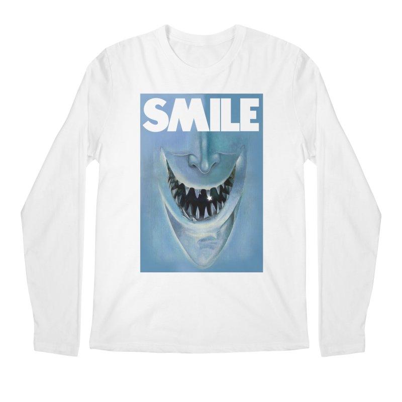 SMILE Men's Regular Longsleeve T-Shirt by philscarr's Artist Shop