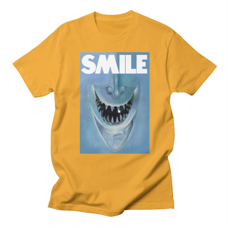 SMILE Men's Regular T-Shirt by philscarr's Artist Shop
