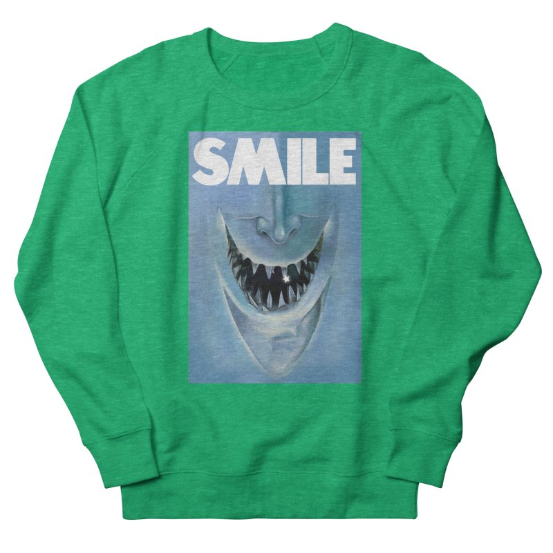 SMILE Men's French Terry Sweatshirt by philscarr's Artist Shop