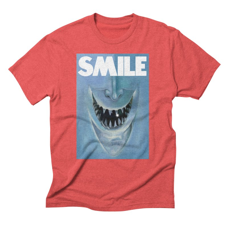SMILE Men's Triblend T-Shirt by philscarr's Artist Shop