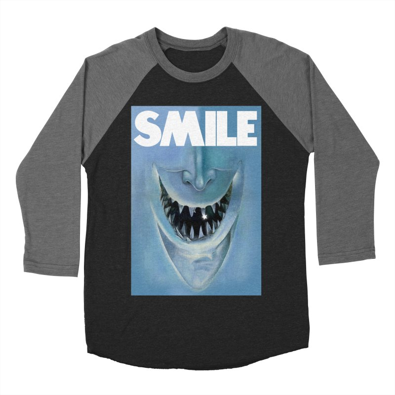SMILE Women's Baseball Triblend Longsleeve T-Shirt by philscarr's Artist Shop