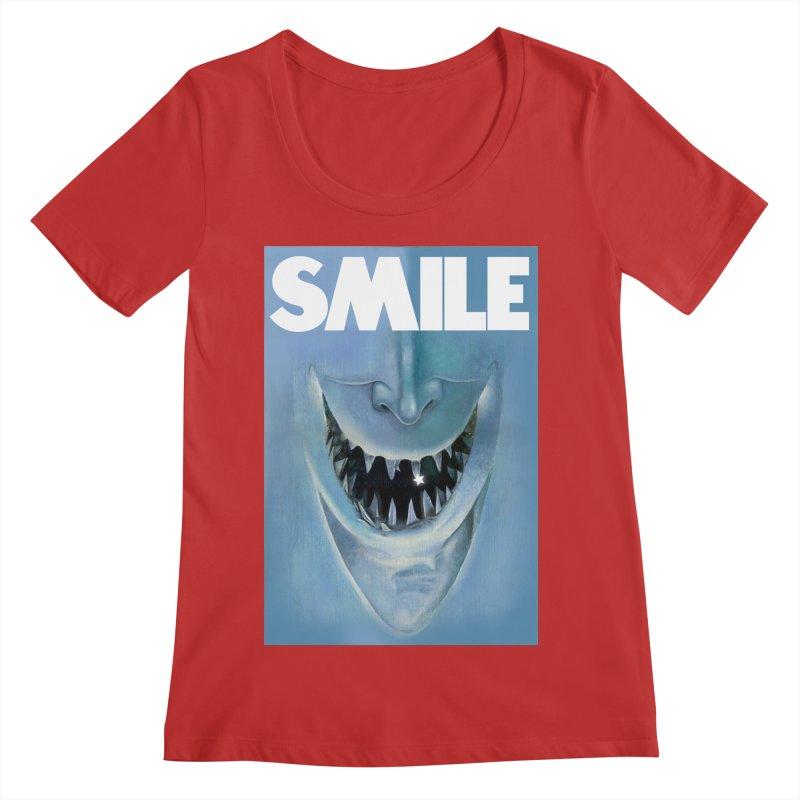 SMILE Women's Regular Scoop Neck by philscarr's Artist Shop