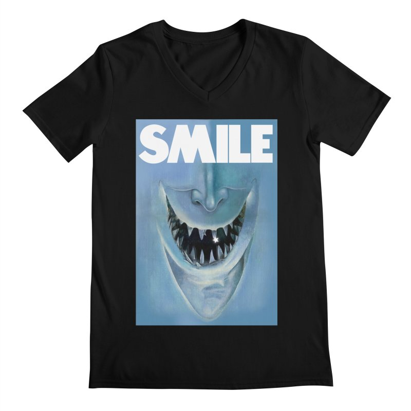 SMILE Men's Regular V-Neck by philscarr's Artist Shop