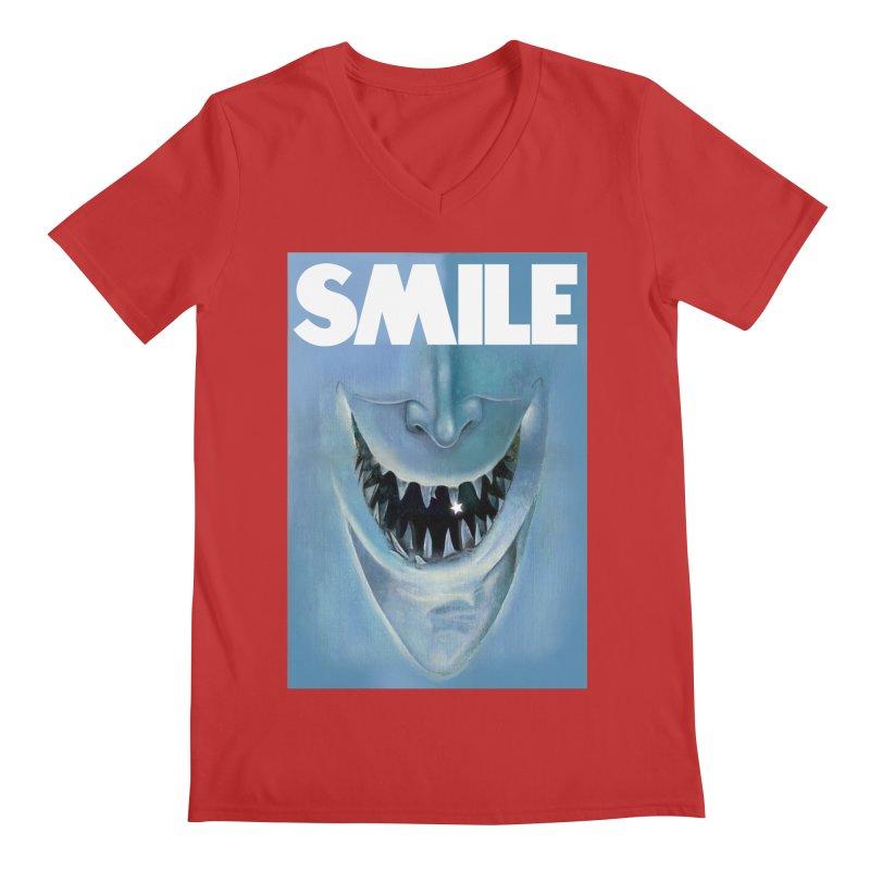 SMILE Men's Regular V-Neck by philscarr's Artist Shop