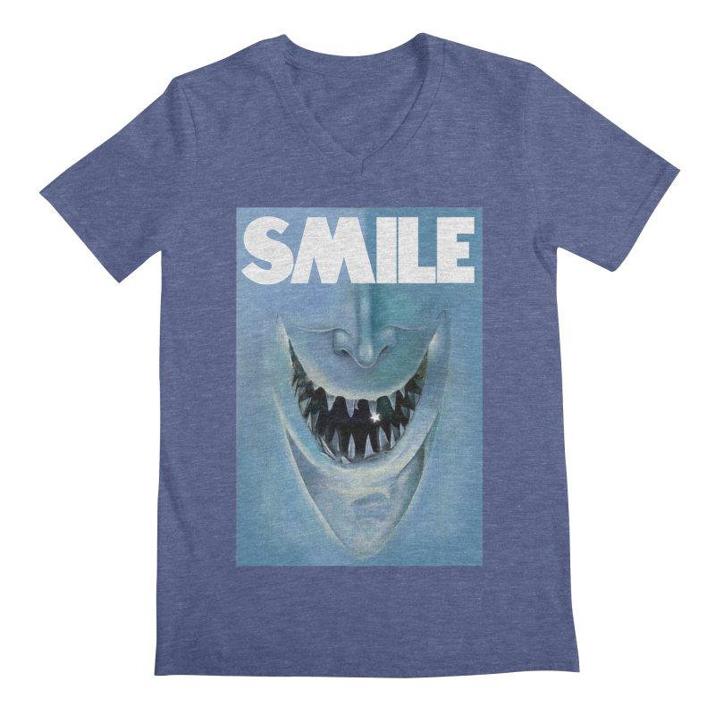 SMILE Men's V-Neck by philscarr's Artist Shop