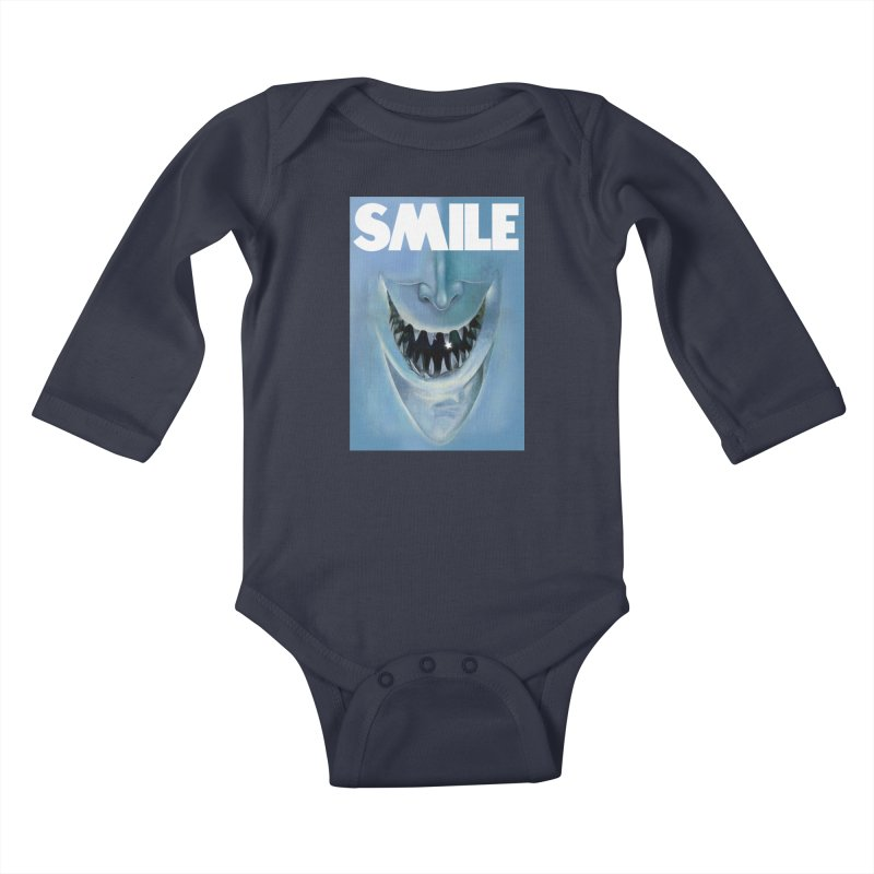 SMILE Kids Baby Longsleeve Bodysuit by philscarr's Artist Shop