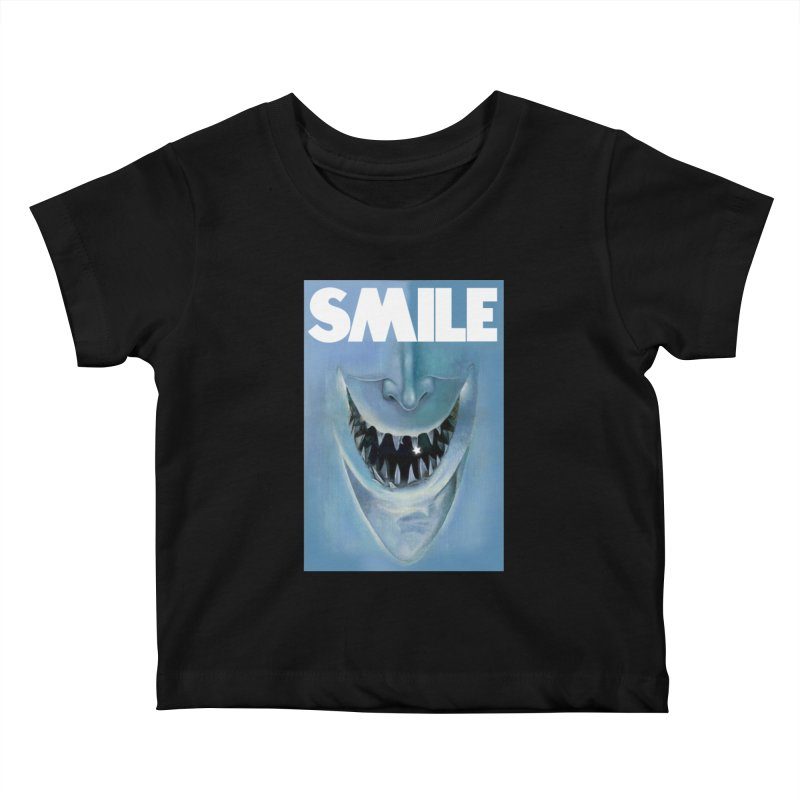SMILE Kids Baby T-Shirt by philscarr's Artist Shop
