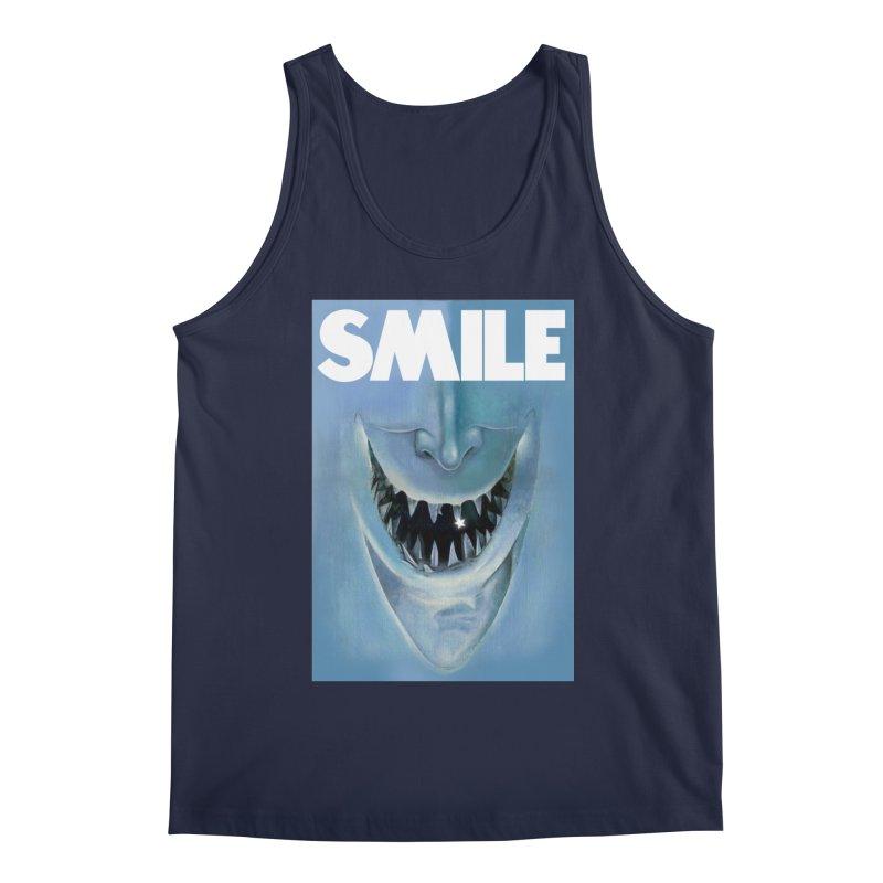 SMILE Men's Regular Tank by philscarr's Artist Shop