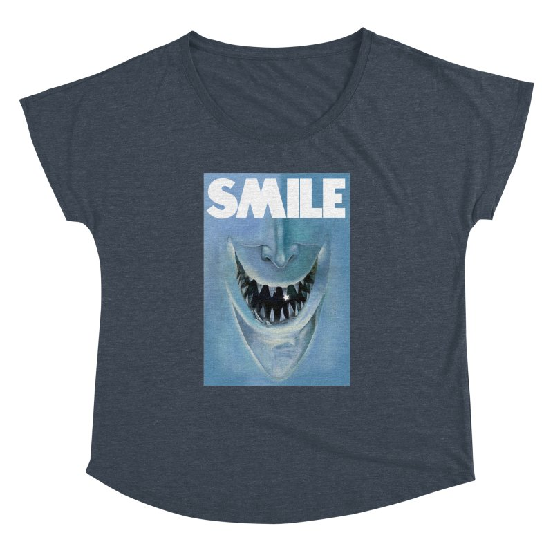 SMILE Women's Dolman Scoop Neck by philscarr's Artist Shop
