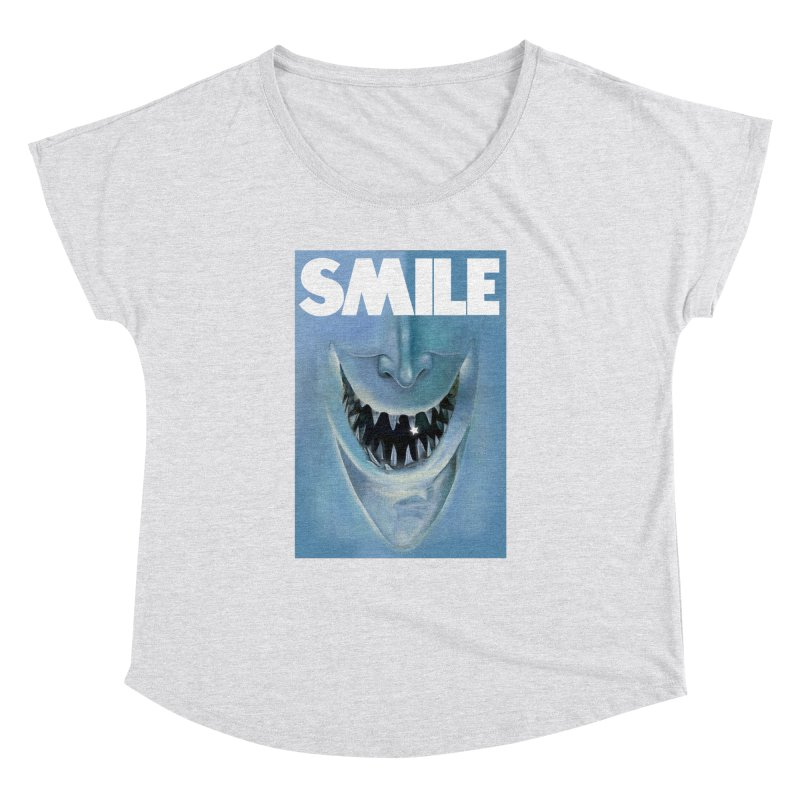 SMILE Women's Dolman Scoop Neck by philscarr's Artist Shop