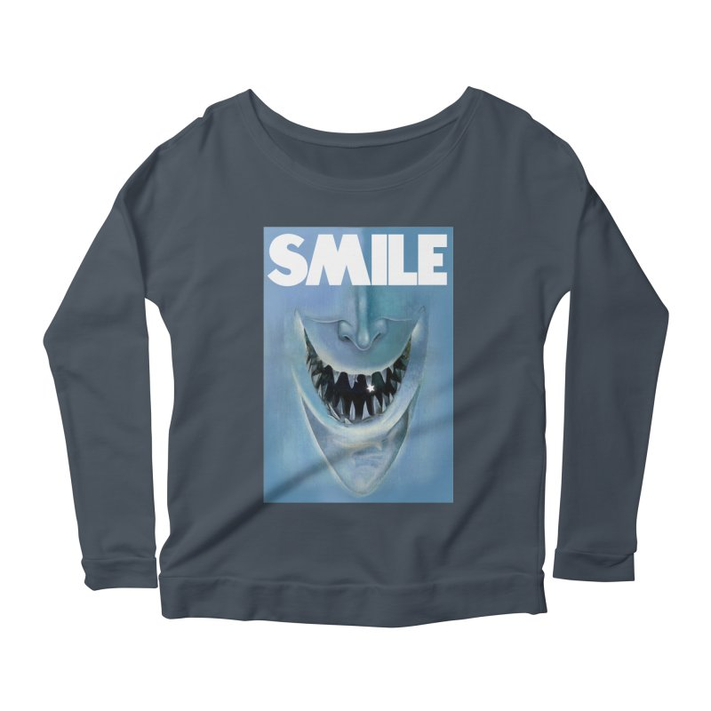 SMILE Women's Scoop Neck Longsleeve T-Shirt by philscarr's Artist Shop