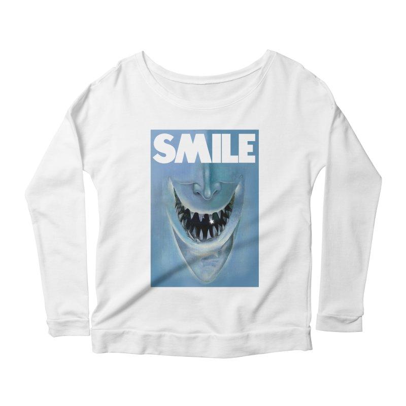 SMILE Women's Scoop Neck Longsleeve T-Shirt by philscarr's Artist Shop
