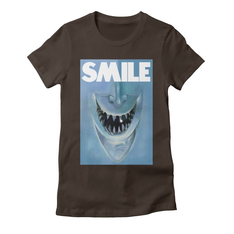 SMILE Women's Fitted T-Shirt by philscarr's Artist Shop