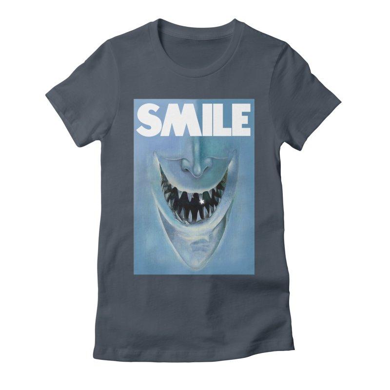 SMILE Women's T-Shirt by philscarr's Artist Shop