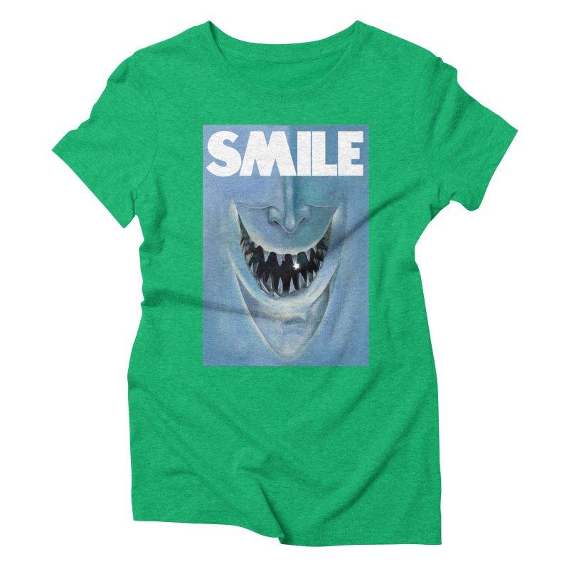 SMILE Women's Triblend T-Shirt by philscarr's Artist Shop