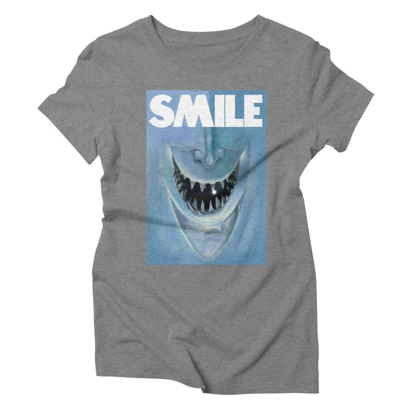 SMILE Women's Triblend T-Shirt by philscarr's Artist Shop