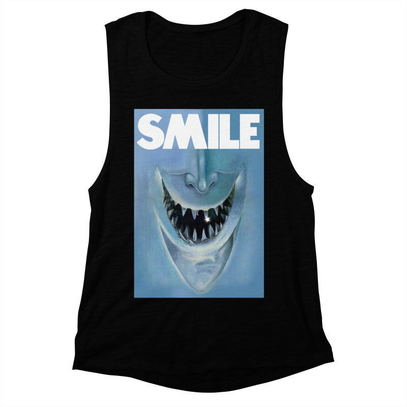 SMILE Women's Muscle Tank by philscarr's Artist Shop