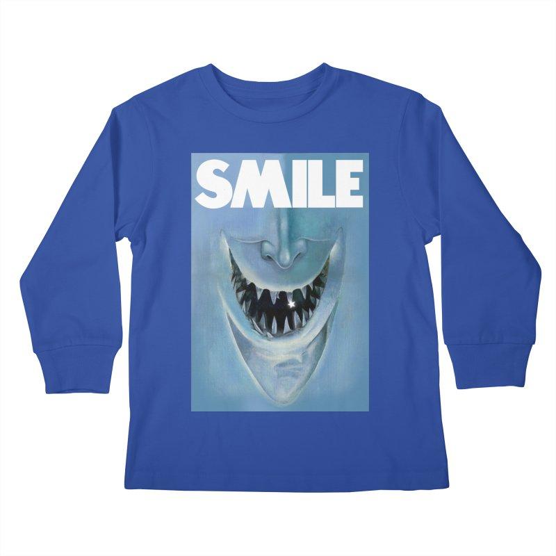 SMILE Kids Longsleeve T-Shirt by philscarr's Artist Shop
