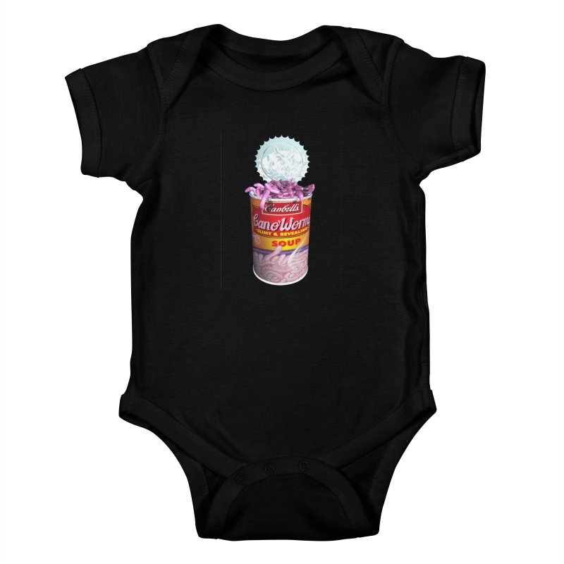 Can o' Worms Kids Baby Bodysuit by philscarr's Artist Shop