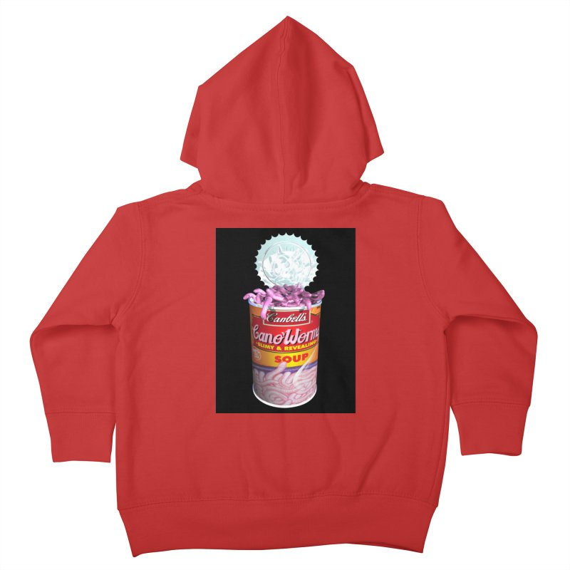 Can o' Worms Kids Toddler Zip-Up Hoody by philscarr's Artist Shop