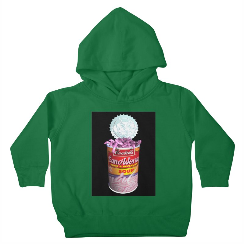 Can o' Worms Kids Toddler Pullover Hoody by philscarr's Artist Shop