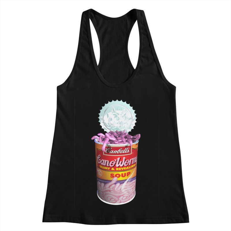 Can o' Worms Women's Racerback Tank by philscarr's Artist Shop