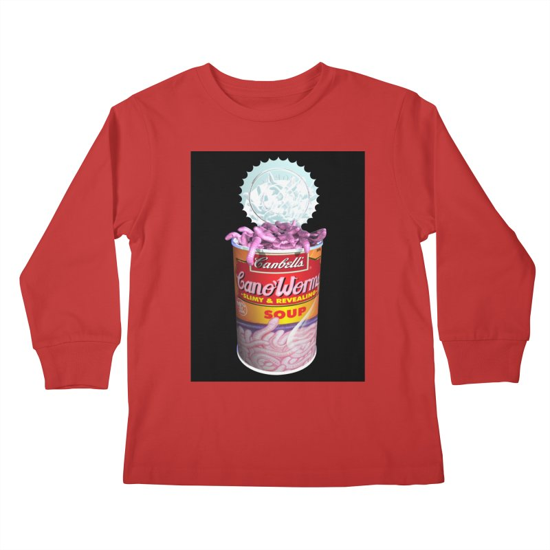 Can o' Worms Kids Longsleeve T-Shirt by philscarr's Artist Shop