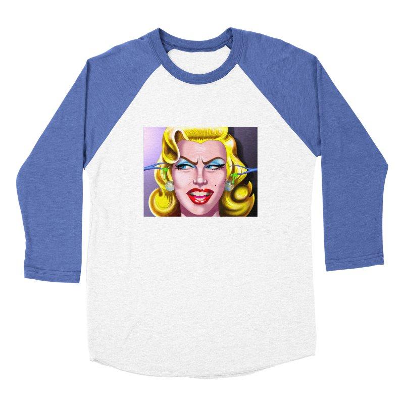 Marilyn Men's Baseball Triblend Longsleeve T-Shirt by philscarr's Artist Shop