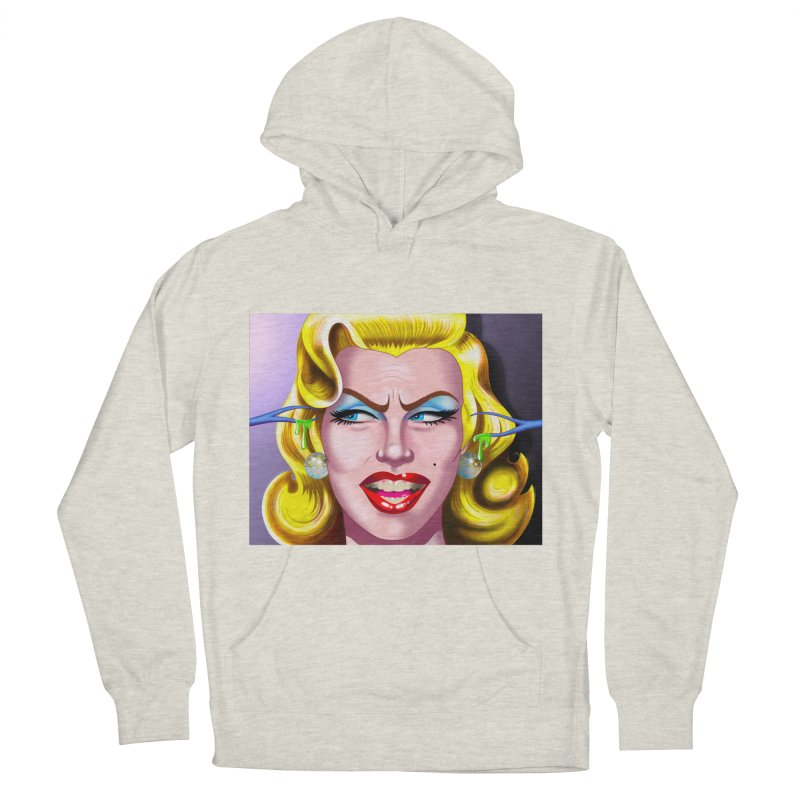 Marilyn Men's French Terry Pullover Hoody by philscarr's Artist Shop