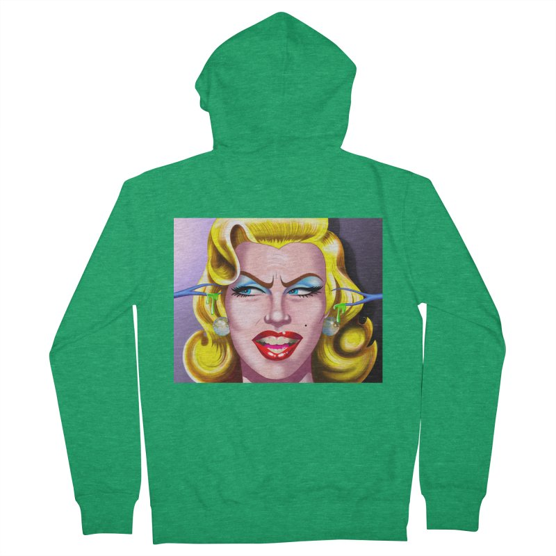 Marilyn Women's French Terry Zip-Up Hoody by philscarr's Artist Shop