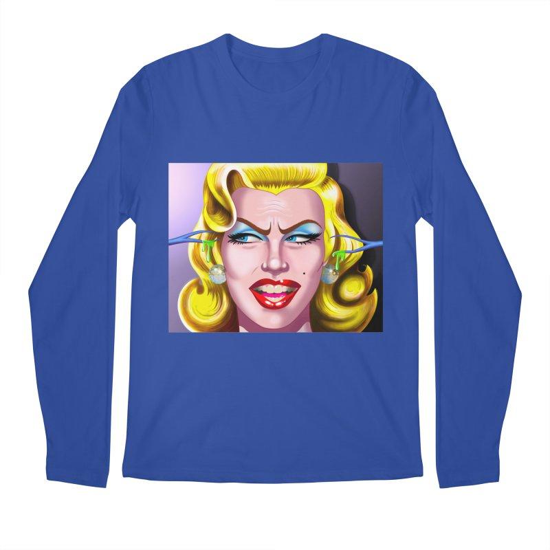 Marilyn Men's Regular Longsleeve T-Shirt by philscarr's Artist Shop