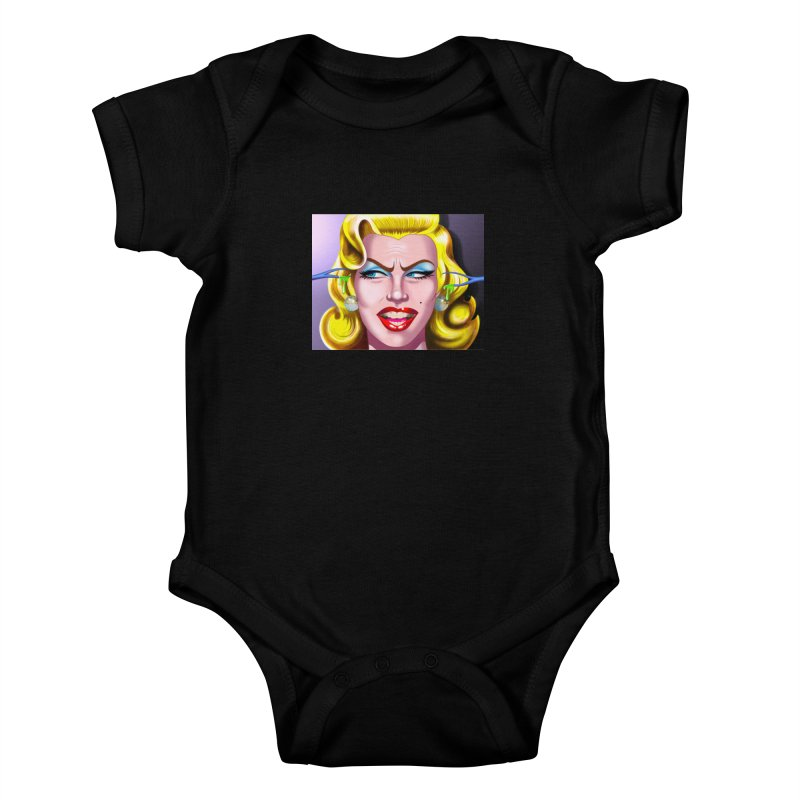 Marilyn Kids Baby Bodysuit by philscarr's Artist Shop